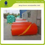 プラスチックキャンバスのHDPEの防水シートシート、いろいろな種類の防水シートオレンジ多Tarps
