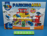 Carro plástico da trilha do brinquedo do artigo novo com lote de estacionamento (9125123)