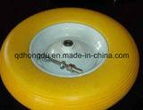 Roda de aço da borracha de espuma do plutônio da borda ou da borda do plástico