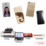 Cortadora de la etiqueta engomada del teléfono móvil de Daqin con software de encargo de la piel