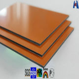 PVDF Exterior Revestimiento Brillo Mate Color Aluminio Panel de pared Acm Panel