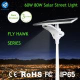 80W Straßen-im Freienlicht des Sonnemmeßfühler-LED