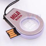 Cristallo del disco istantaneo del USB di Pendrive 32g con il marchio del LED