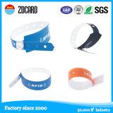 Bracelete da identificação do bebê RFID de Hostipal do vinil da segurança/Wristband impermeável com etiqueta