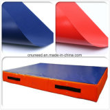 Эластичный брезент PVC Fr штейновый для тюфяка спорта или безопасности