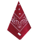 Выполненный на заказ шарф хлопка логоса напечатанный Paisley выдвиженческий дешевый