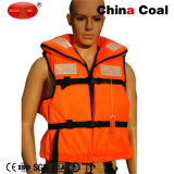 Maglia di vita riflettente arancione personalizzata con il giubbotto di salvataggio Lifesaving del fischio