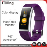 心拍数またはスリープモニタリングまたは歩数計または坐ったメモまたは血圧の2018最も新しいマルチ機能カラーディスプレイスクリーンのスポーツの適性のデジタルスマートな腕時計