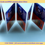 Cartão de presente de plástico em tamanho de cartão de crédito com impressão perfeita