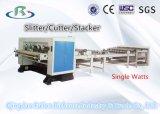 Único cortador da talhadeira do Nc do papel da face & do Nc & máquina de empilhamento