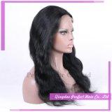 Parrucca piena bassa di seta sembrante naturale fatta a mano elegante del merletto