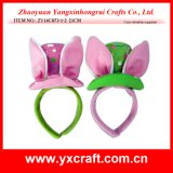帽子のヘッドバンドが付いているイースター装飾(ZY14C873-1-2)のばね党バニーの耳