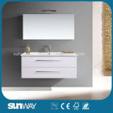 Heißer Verkaufs-Europa-Art MDF-Badezimmer-Schrank mit Spiegel-Schrank (SW-1313)