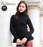 Maglione di collo rotondo del cachemire delle donne (13brdw070-2)