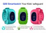 Protezione sicura della vigilanza Q50 del capretto dell'inseguitore degli anti di GPS bambini persi astuti dell'indicatore di posizione