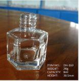 Шестиугольная и квадратная высокая бутылка бесцветного стекла для маникюра