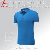 Camicia di polo calda di golf della pianura di stampa della matrice per serigrafia di vendita degli abiti sportivi di Healong