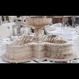Fontaine antique de travertin pour un cadeau Mf-756