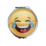 Kundenspezifisches GroßhandelsmetallEmoji kompakter Spiegel