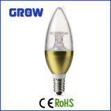 セリウムERP RoHS LEDの蝋燭ライト(C37-867-IC-G)との5W金E14