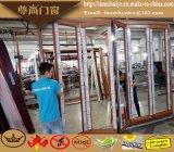 Portello di piegatura di alluminio con colore di legno