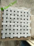 Tegel van het Mozaïek van Backsplash van de Steen van Arabesque Bianco Carrara van de Straal van het Water van het Patroon van de bloem de Witte Marmeren