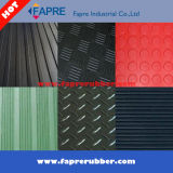 Vasto Fine Ribbed/Checker Runner/Round Stud/Corrugated/Diamond Thread Pattern Rubber Mat Sheet Roll Floor (Workshop e Car)