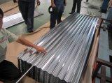 Hoja de aluminio acanalada del material para techos de Qatar Kuwait United Arab Emirates
