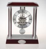 Relógio de pêndulo de madeira esqueleto de tipo analógico de quartzo