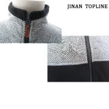 Hommes Herringbone Micro Fleece Leisure Jacket