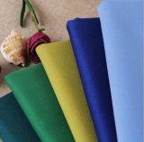 3%Spandex tela de la tela cruzada 97%Cotton para el uniforme del desgaste del trabajador del juego de alineada