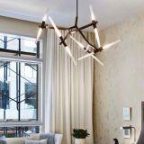 De Lichten die van de Lamp van de prachtige Moderne LEIDENE van de Woonkamer Tegenhanger van Haning in Zwarte aansteken, G9 3W, 3000k