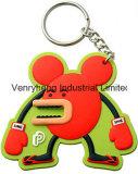 Borracha macia Keychain do PVC Keychain do costume 2D 3D Keychain