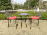 3 pcs de barre en aluminium Paito Set de table de jardin Meubles en rotin