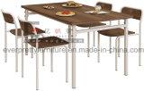 Jogo de jantar moderno da mobília da cadeira de tabela da cantina