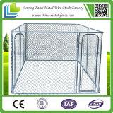 電流を通された鋼線の網の鉄の塀犬の犬小屋