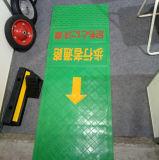 Stuoia direzionale della gomma di colore verde del sottopassaggio