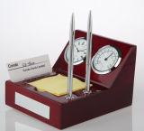 Pulso de disparo de tabela de madeira para o termômetro do presente A6040 da promoção com as ofertas da lembrança do suporte de cartão conhecido