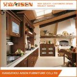 Casa de luxo madeira maciça de mobiliário de cozinha armário de cozinha moderna