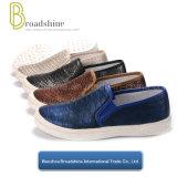麻ロープの孤色に変色することのアニマル・スキンパターンPUの注入の女性の靴を追加注文しなさい