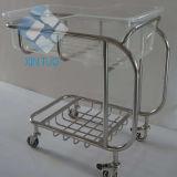 Base médica infantil ajustable movible del acero inoxidable, choza de bebé, pesebre del hospital