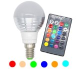 bulbo do diodo emissor de luz de 3W RGB Lampada