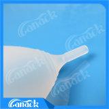 Tazza mestruale dell'igiene del silicone medico femminile di cura