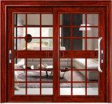 Энергосберегающая алюминиевая горизонтальная дверь сползая стекла с экраном мухы