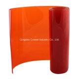 Plástico de color naranja suave pieza de PVC