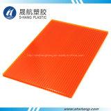 6 mm de couleur orange Twin-Wall Feuille de toiture en polycarbonate