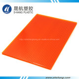 6mmのオレンジカラー対壁のポリカーボネートの屋根ふきシート