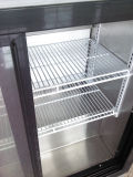 Marco de acero inoxidable para puerta de vidrio comercial Volver Bar Cooler (DBQ126S2)