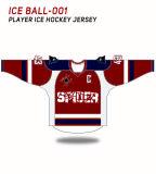 Spidersports sublime personalizado Apparel Camiseta de Hockey sobre Hielo