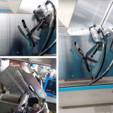 産業アルミニウム放出は2ヘッド打抜き機の側面図を描く